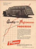 progress mfg company 1957 schaetzel oil texaco tank truck vintage ad