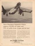 Purolator Products Inc 1957 Vintage Ad Separator Filters Water Avgas