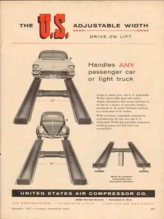 united states air compressor company 1957 adjustable width vintage ad