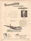 Aero Design Engineering Company 1955 Vintage Ad Sun Oil Higgins Pilot