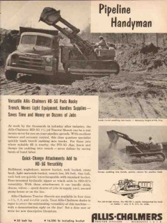 Allis-Chalmers 1955 Vintage Ad Tractor Shovel HD-5G Pipeline Handyman