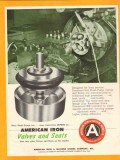 American Iron Machine Works 1955 Vintage Ad Oil Slush Pump Valve Seats