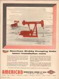 American Mfg Company TX 1955 Vintage Ad Oil Stubby Pumping Units