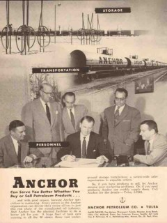 Anchor Petroleum Company 1955 Vintage Ad Buy Sell Petroleum Products