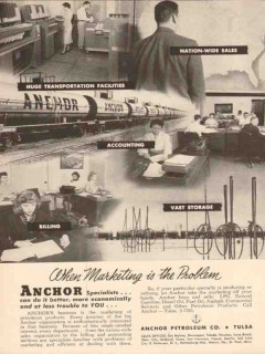 Anchor Petroleum Company 1955 Vintage Ad Marketing Problem Specialists