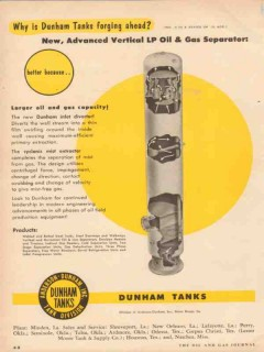 Anderson-Dunham Inc 1955 Vintage Ad Oil Gas Separator Vertical LP