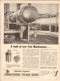 Armstrong Machine Works 1955 Vintage Ad Cost Maintenance Steam Trap