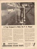 Armstrong Machine Works 1955 Vintage Ad Steam Trap Designed PA Happy