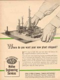 Arthur G McKee Company 1955 Vintage Ad Engineering New Plant Shipped