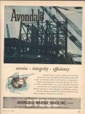 Avondale Marine Ways 1955 Vintage Ad Oil Service Integrity Efficiency