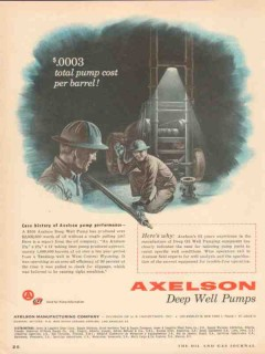 Axelson Mfg Company 1955 Vintage Ad Oil Case History Pump Performance