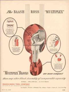 Baash-Ross Tool Company 1955 Vintage Ad Oil Multiplex Blocks Compact