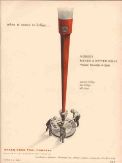Baash-Ross Tool Company 1955 Vintage Ad Nobody Better Kelly Square Hex