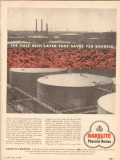 Bakelite Company 1955 Vintage Ad Half Inch Layer Saves 750 Barrels Oil