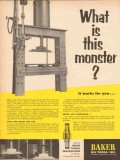 Baker Oil Tools Inc 1955 Vintage Ad Monster Casing Centralizers Spring
