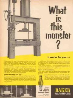 Baker Oil Tools Inc 1955 Vintage Ad Monster Casing Centralizers Spring