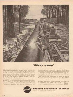Allied Chemical Dye 1955 Vintage Ad Barrett Protective Coating Sticky