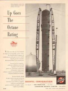 Bechtel Corp 1955 Vintage Ad Octane Depropanizer Column El Segundo CA