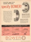 Bower Roller Bearing Company 1957 Vintage Ad Specify Tapered Straight