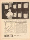 Bristol Company 1955 Vintage Ad Oil Telemetering System Function Phone