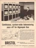 Bristol Company 1955 Vintage Ad Oil Field System-Wide Telemetering