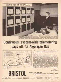 Bristol Company 1955 Vintage Ad Oil Field System-Wide Telemetering