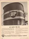 British Petroleum Company 1955 Vintage Ad Oil Tanker Fleet BP Ships