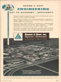 Brown Root Inc 1955 Vintage Ad Oil Engineering Economy Efficiency