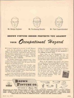 Brown Fintube Company 1955 Vintage Ad Oil Protects Occupational Hazard