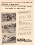 Bucyrus-Erie Company 1955 Vintage Ad Tractor-Type Crawler Oil Pipline