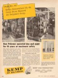 C M Kemp Mfg Company 1955 Vintage Ad Oil Polymer Corp Maximum Safety
