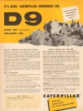 caterpillar tractor company 1955 d9 rugged service operate vintage ad