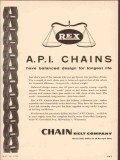 Chain Belt Company 1955 Vintage Ad Oil Rex API Balanced Design Life