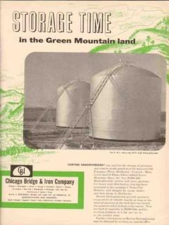 Chicago Bridge Iron Company 1955 Vintage Ad Oil Horton Hemispheroids