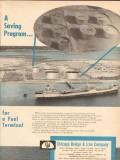 Chicago Bridge Iron Company 1955 Vintage Ad Oil Fuel Saving Program