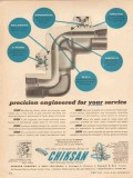 Chiksan Company 1955 Vintage Ad Oil Precision Engineered Swivel Joints