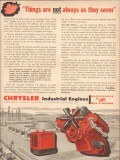 Chrysler Corp 1955 Vintage Ad Industrial Engines Oil Field Not Seem