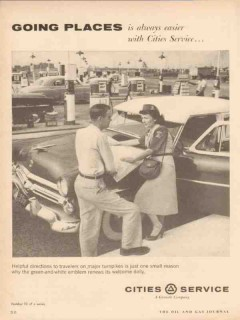 cities service 1955 going places helpful directions travel vintage ad