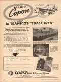 Coast Paint Lacquer Company 1955 Vintage Ad Copon Transco Super Inch
