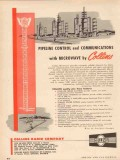 Collins Radio Company 1955 Vintage Ad Microwave Control Oil Pipeline