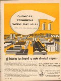 Columbia-Southern Chemical Corp 1955 Vintage Ad Oil Industry Progress