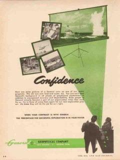 General Geophysical Company 1955 Vintage Ad Oil Land Water Confidence