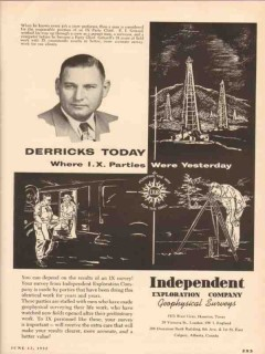 Independent Exploration Company 1955 Vintage Ad Oil E I Grizzell