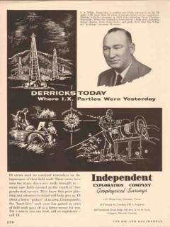 Independent Exploration Company 1955 Vintage Ad Oil S A White