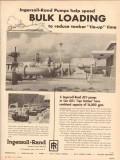 Ingersoll-Rand 1955 Vintage Ad Pump Speed Bulk Loading Reduce Tie-Up