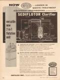 Infilco Inc 1955 Vintage Ad Oil Waste Treatment Sediflotor Clarifier