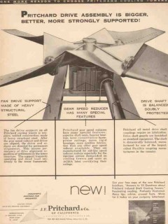 J F Pritchard Company 1955 Vintage Ad Oil Gas Drive Assembly Supported