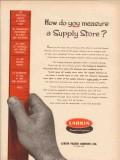Larkin Packer Company 1955 Vintage Ad Oil Field Supply Store Measure