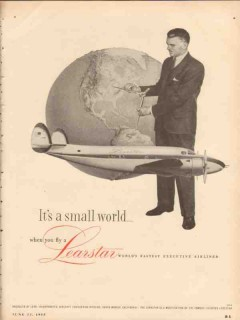 lear inc 1955 learstar small world fly executive airliner vintage ad