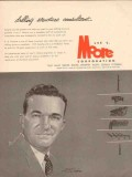 Lee C Moore Corp 1955 Vintage Ad A B Dunham Drilling Structure Consult